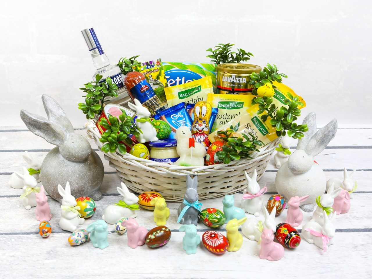 Polonez parcel service easter basket chocolate bunny chocolate eggs sugar easter lamb horseradish semi dried sausage picnic ham raisins almonds candied orange zest negle Image collections